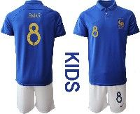 Youth 19-20 Soccer France National Team #8 Thomas Lemar Blue Home Short Sleeve Suit Jersey
