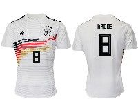 Mens 19-20 Soccer Germany Ntaional Team #8 Toni Kroos Adidas White Home Short Sleeve Jersey