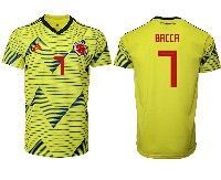 Mens 19-20 Soccer Colombia National Team #7 Carlos Bacca Adidas Yellow Home Short Sleeve Jersey