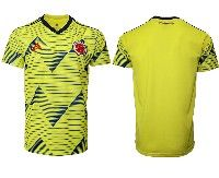 Mens 19-20 Soccer Colombia National Team Blank Adidas Yellow Home Short Sleeve Jersey