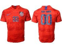 Mens 19-20 Soccer Usa National Team ( Custom Made )  Nike Red Away Short Sleeve Jersey