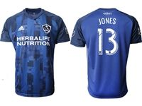 Mens 19-20 Soccer Galaxy Club #13 Cobi Jones Blue Away Short Sleeve Thailand Jersey