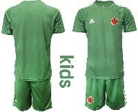 Youth Soccer 19-20 Colombia National Team Custom Made  Green Goalkeeper Short Sleeve Suit Jersey