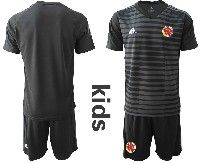 Youth Soccer 19-20 Colombia National Team Custom Made Black Goalkeeper Short Sleeve Suit Jersey