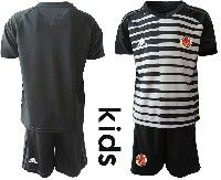 Youth Soccer 19-20 Colombia National Team Custom Made Black White Goalkeeper Short Sleeve Suit Jersey