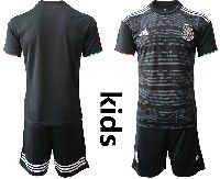 Youth Soccer 19-20 Mexico National Team Custom Made Black Home Short Sleeve Suit Jersey