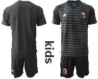 Youth Soccer 19-20 Mexico National Team Custom Made Black Goalkeeper Short Sleeve Suit Jersey