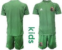 Youth Soccer 19-20 Mexico National Team Custom Made Green Goalkeeper Short Sleeve Suit Jersey