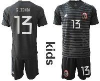 Youth Soccer 19-20 Mexico National Team #13 G.ochoa Black Goalkeeper Short Sleeve Suit Jersey