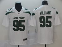 New Mens Nfl New York Jets #95 Williams White Vapor Untouchable Limited Player Jersey