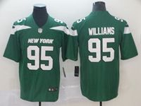 New Mens Nfl New York Jets #95 Williams Green Vapor Untouchable Limited Player Jersey