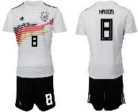Mens 19-20 Soccer Germany Ntaional Team #8 Toni Kroos White Home Adidas Short Sleeve Suit Jersey