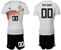 Mens 19-20 Soccer Germany Ntaional Team ( Custom Made ) White Home Adidas Short Sleeve Suit Jersey