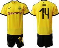Mens 19-20 Soccer Borussia Dortmund Club #14 Alexander Isak Yellow Home Short Sleeve Suit Jersey