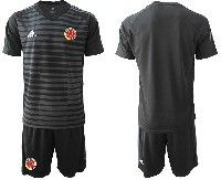 Mens 19-20 Soccer Colombia National Team ( Custom Made ) Black Goalkeeper Short Sleeve Suit Jersey