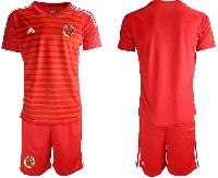 Mens 19-20 Soccer Colombia National Team ( Custom Made ) Red Goalkeeper Short Sleeve Suit Jersey