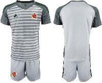 Mens 19-20 Soccer Colombia National Team ( Custom Made ) Gray Goalkeeper Short Sleeve Suit Jersey