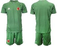 Mens 19-20 Soccer Colombia National Team ( Custom Made ) Green Goalkeeper Short Sleeve Suit Jersey