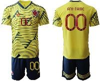 Mens 19-20 Soccer Colombia National Team ( Custom Made ) Yellow Home Adidas Short Sleeve Suit Jersey