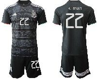 Mens 19-20 Soccer Mexico National Team #22 H. Lozano Black Home Short Sleeve Suit Jersey