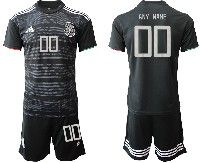 Mens 19-20 Soccer Mexico National Team ( Custom Made ) Black Home Short Sleeve Suit Jersey