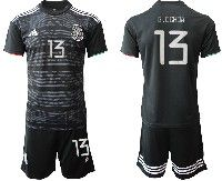 Mens 19-20 Soccer Mexico National Team #13 Guillermo Ochoa Black Home Short Sleeve Suit Jersey