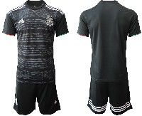 Mens 19-20 Soccer Mexico National Team Blank Black Home Short Sleeve Suit Jersey