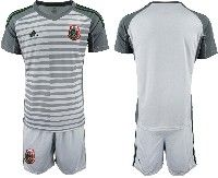 Mens 19-20 Soccer Mexico National Team Blank Gray Goalkeeper Short Sleeve Suit Jersey