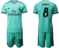 Mens 19-20 Soccer Real Madrid Club #8 Toni Kroos Green Short Sleeve Suit Jersey