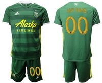 Mens 19-20 Soccer Portland Timbers Club (custom Made) Green Short Sleeve Suit Adidas Jersey