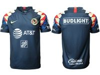 Mens 19-20 Soccer America Club ( Custom Made ) Blue Away Jersey