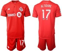 Mens 19-20 Soccer Club Toronto Fc #17 Jozy Altidore Red Home Short Sleeve Suit Jersey