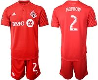 Mens 19-20 Soccer Club Toronto Fc #2 Morrow Red Home Short Sleeve Suit Jersey