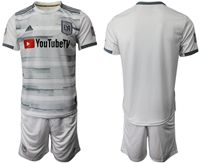 Mens 19-20 Soccer Los Angeles Fc Club ( Custom Made ) Gray Short Sleeve Suit Jersey