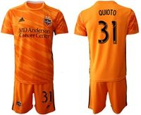 Mens 19-20 Soccer Houston Dynamo Club #31 Quioto Orange Home Short Sleeve Suit Jersey