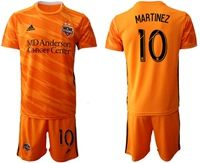 Mens 19-20 Soccer Houston Dynamo Club #10 Martinez Orange Home Short Sleeve Suit Jersey