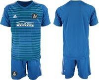 Mens 19-20 Soccer Atlanta United Club (custom Made) Blue Away Short Sleeve Suit Jersey