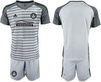 Mens 19-20 Soccer Atlanta United Club (custom Made) Gray Away Short Sleeve Suit Jersey