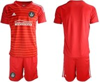 Mens 19-20 Soccer Atlanta United Club (custom Made) Red Away Short Sleeve Suit Jersey