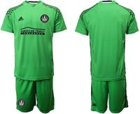 Mens 19-20 Soccer Atlanta United Club (custom Made) Green(nets On The Shoulder) Short Sleeve Suit Jersey