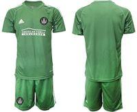 Mens 19-20 Soccer Atlanta United Club (custom Made) Green Short Sleeve Suit Jersey