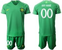 Mens 19-20 Soccer Club Beijing Sinobo Guoan (custom Made) Green Home Short Sleeve Suit Jersey