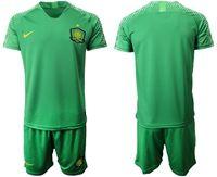 Mens 19-20 Soccer Club Beijing Sinobo Guoan Blank Green Home Short Sleeve Suit Jersey