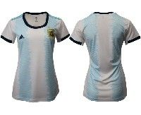 Women 19-20 Soccer Argentina National Team Blank White Adidas Home Short Sleeve Jersey