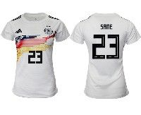 Women 19-20 Soccer Germany Ntaional Team #23 Leroy Sane Adidas White Home Short Sleeve Jersey