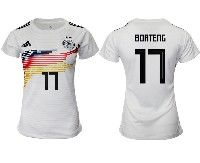 Women 19-20 Soccer Germany Ntaional Team #17 Jerome Boateng White Home Adidas Short Sleeve Jersey