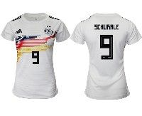 Women 19-20 Soccer Germany Ntaional Team #9 Andre Schurrle White Home Adidas Short Sleeve Jersey