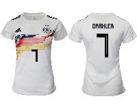 Women 19-20 Soccer Germany Ntaional Team #7 Julian Draxler White Home Adidas Short Sleeve Jersey
