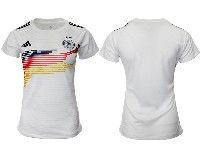 Women 19-20 Soccer Germany Ntaional Team Blank White Home Adidas Short Sleeve Jersey