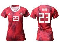 Women 19-20 Soccer Germany Ntaional Team #23 Leroy Sane Adidas Red Away Short Sleeve Jersey